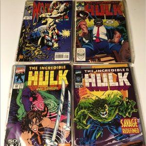 Vintage Wolverine & Hulk Comic Books 20 Assorted